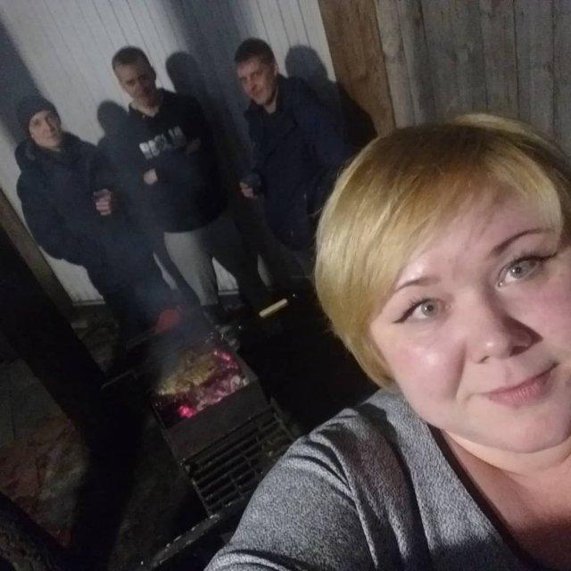Евгения Романова - повар из Новосибирска на пикнике