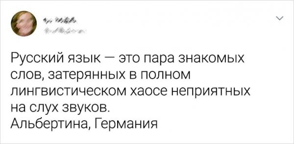 твит про русский язык