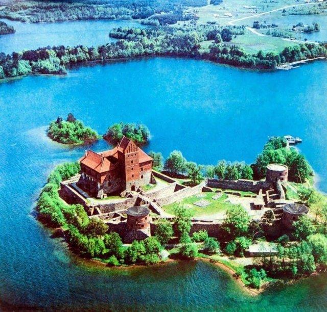 Тракайский замок. Литовская ССР, 1975 год