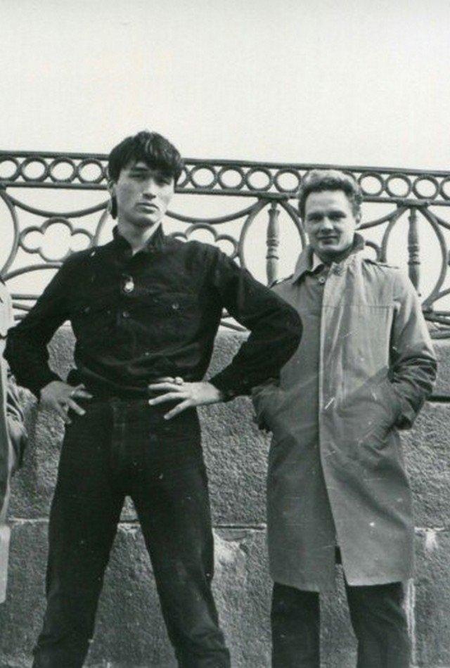 Виктор Цой и Олег Валинский, 1981 год, Ленинград