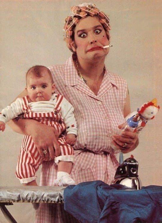 Оззи Осборн с дочерью, 1983 год.