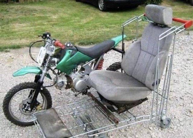 Самодельная коляска для мотоцикла
