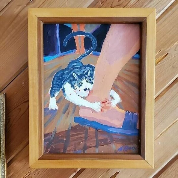 картина с котом