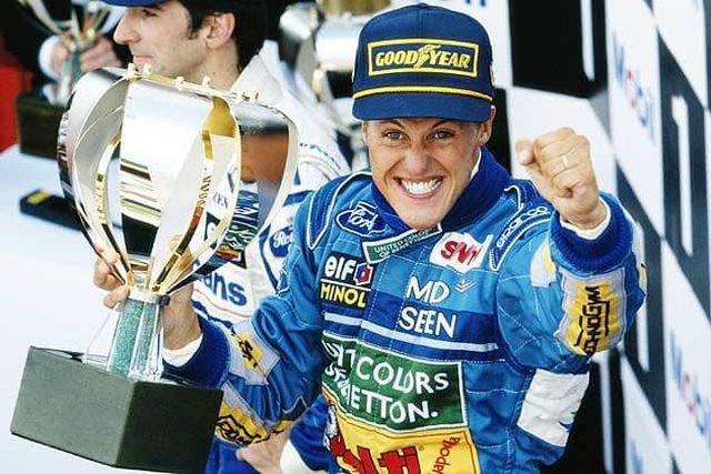 Михаэль Шумахер стал чемпионом мира формулы 1, 1994 год.