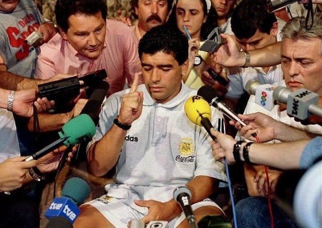 Диего Марадона на чемпионате мира в США в 1994 году