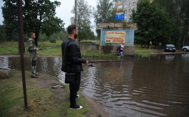 Рыбалка во дворе