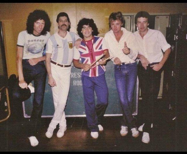 Группа Queen и Диего Марадона, 1981 год