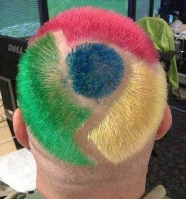 Прическа в стиле Google Chrome