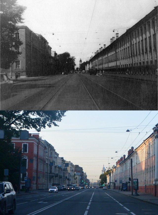 1-я /Съездовская (Кадетская) линии ВО1964 и 2020 год.