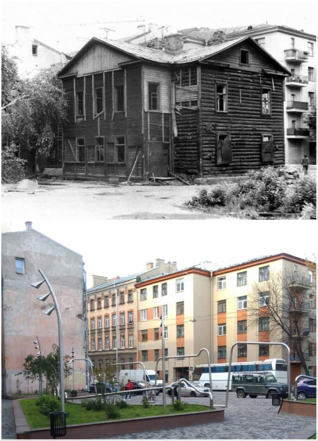 Улица Моисеенко, дом 15-171988 и 2020 год