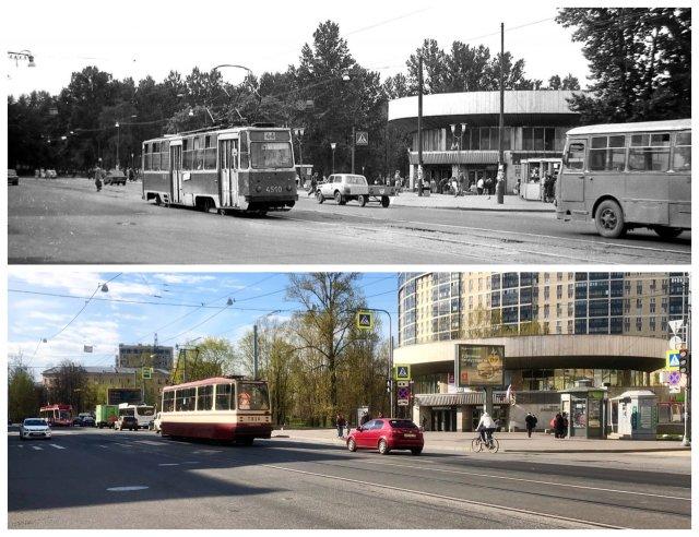 Станция метро «Пролетарская».1991 и 2020 год.