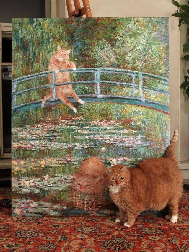 Кот на рисунке