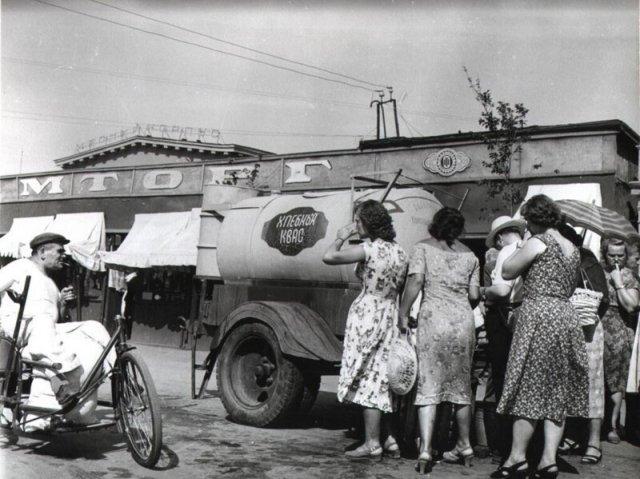 Продажа кваса в Одессе, 1964