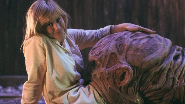 """Патрисия Аркетт на съёмках фильма """"Кошмар на улице Вязов 3: Воины сна"""", 1987 год"""