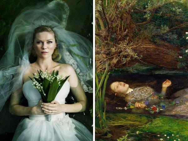 «Меланхолия», Ларс фон Триер, 2011 год — «Офелия», Джон Эверетт Милле, 1852 год