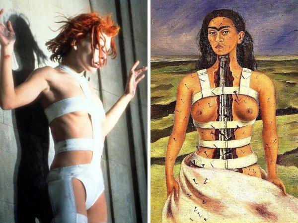 «Пятый элемент», Люк Бессон, 1997 год — «Сломанная колонна», Фрида Кало, 1944 год