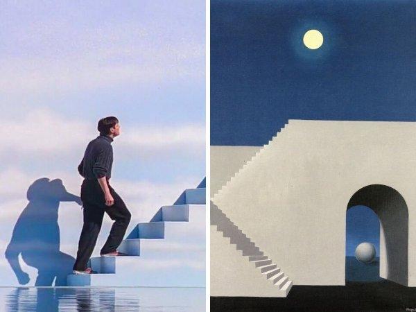 «Шоу Трумана», Питер Уир, 1998 год — «При свете луны», Рене Магритт, 1956 год