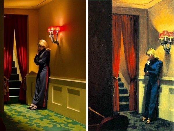 «Ширли: Образы реальности», Густав Дойч, 2013 год — «Нью-йоркский кинотеатр», Эдвард Хоппер, 1939 год