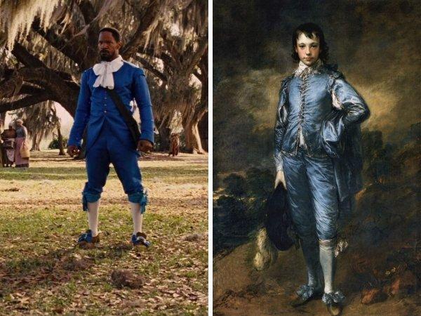 «Джанго освобождённый», Квентин Тарантино, 2012 год — «Голубой мальчик», Томас Гейнсборо, 1770 год