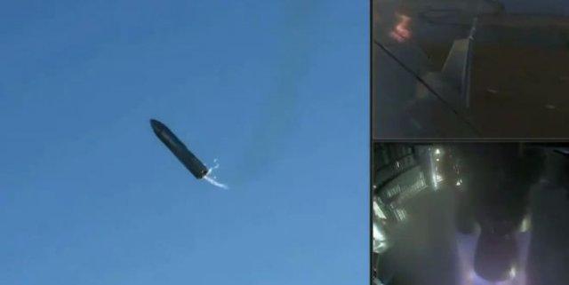 Эпичный взрыв прототипа ракеты SpaeX Starship при посадке