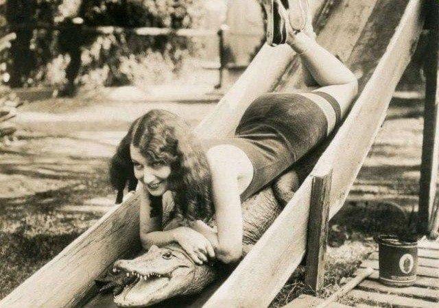 На крокодиле с горки, 1927 г.
