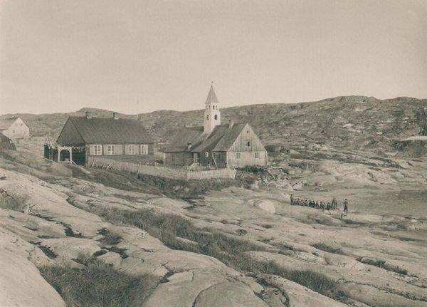 Церковь и больница города Илулиссат. 1889 г.