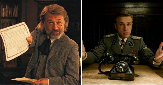 Кристофер Вальц в роли разных героев