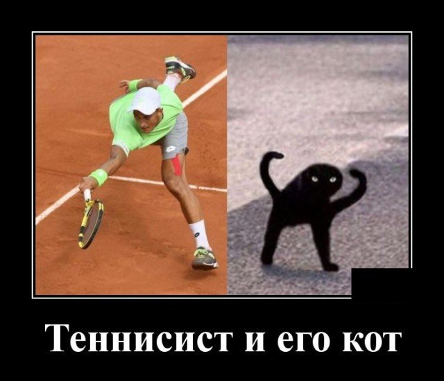 Демотиватор про теннисиста