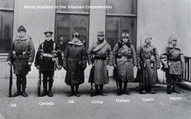 Представители армий интервентов на Дальнем Востоке, 1920 год, Россия