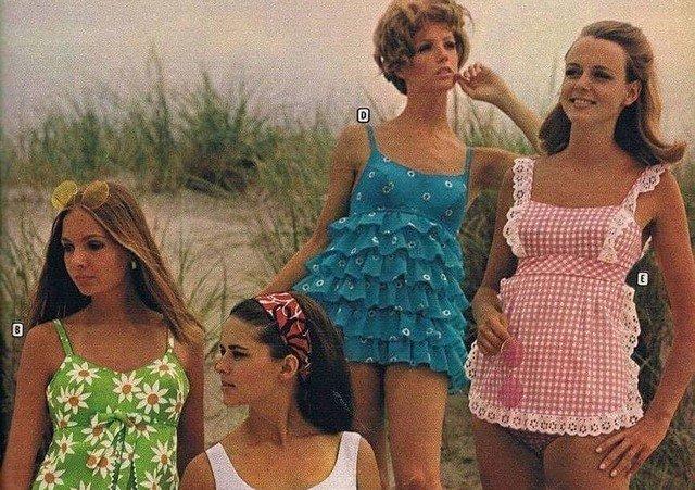 Пляжная мода тех времен, 1960 г.