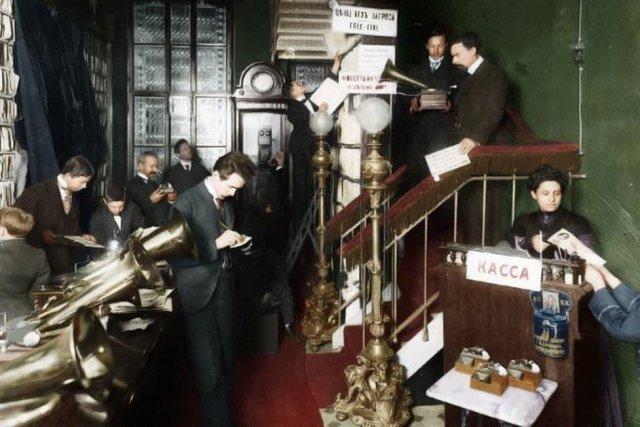 Магазин граммофонов и фонографов. Санкт-Петербург, 1910 год.