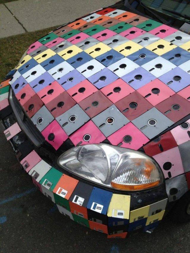 Тюнинг машины дискетами