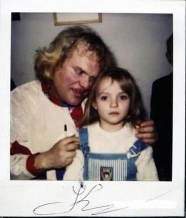 Куклачёв с поклонницей. 1990-е.