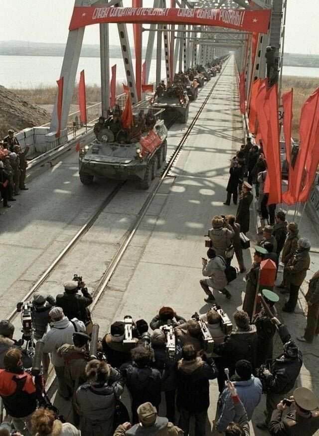 Последняя советская дивизия, покидающая Афганистан в 1989 году.
