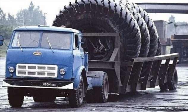 Перевозка шин для автомобилей БелАЗ, 1970–е годы
