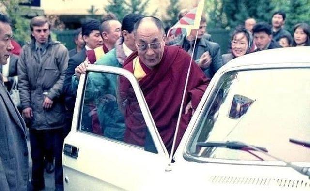 Далай-лама XIV в Туве, 1992 год.
