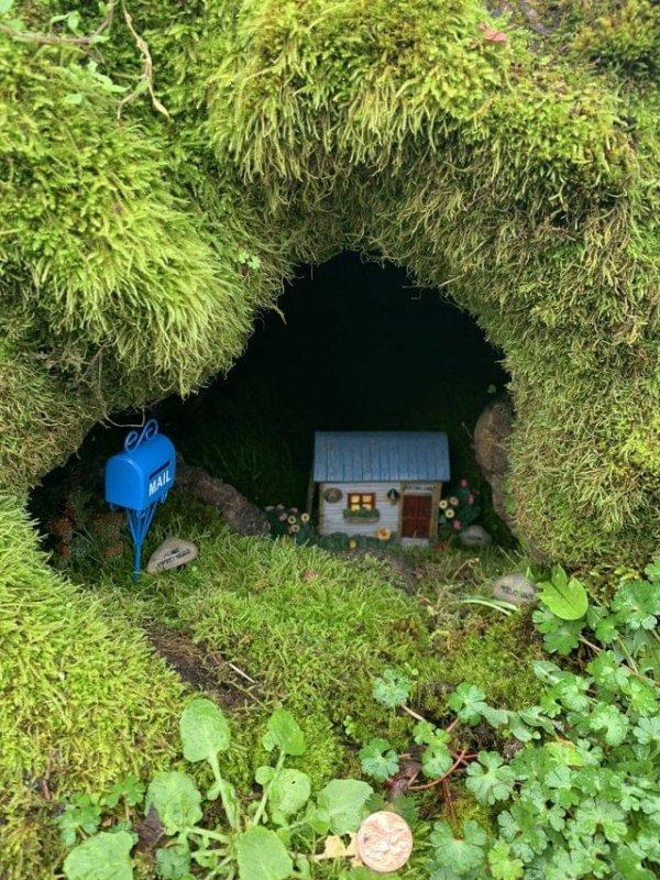 Крошечный домик внутри пня