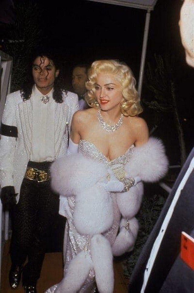 """Майкл Джексон и Мадонна на церемонии вручения """"Оскара"""" в 1991 году."""