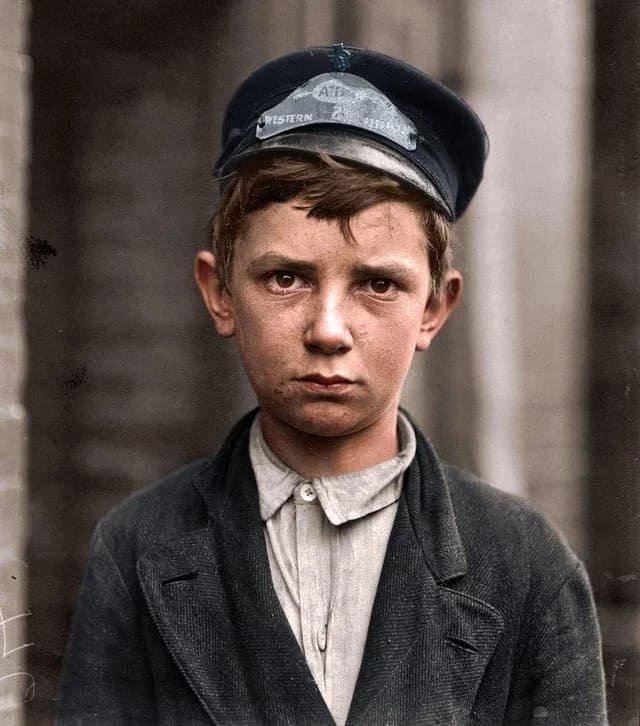 Ричард Пирс - 14 летний рабочий Western Union.