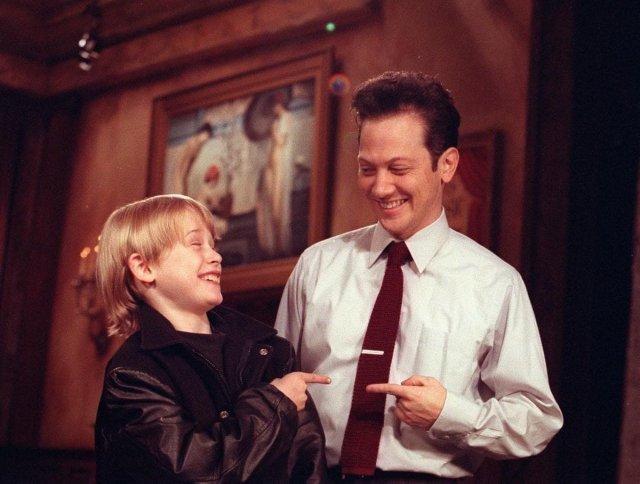 Маколей Калкин и Роб Шнайдер, 1992 год.