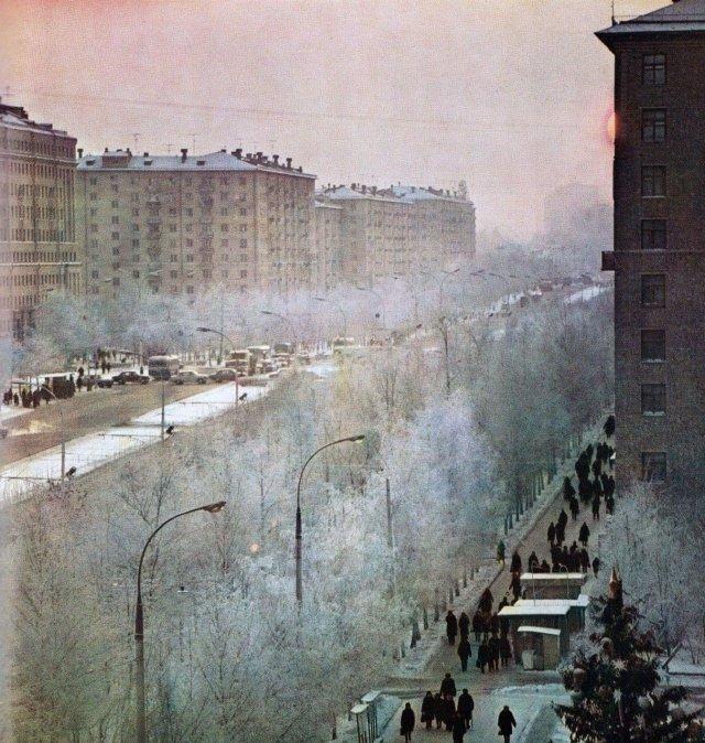 Ленинский проспект, зима 1972 г.