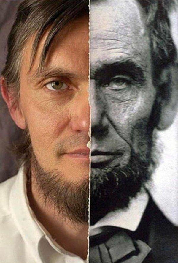 Прапрапрапрапрапрапрапраправнук Авраама Линкольна и его знаменитый родственник