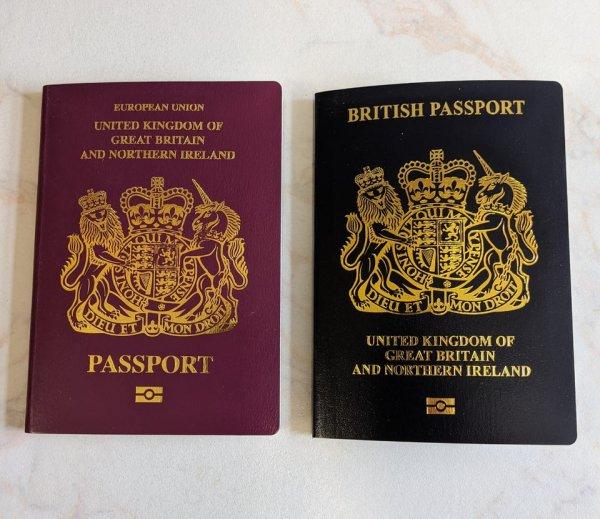 Паспорт до и после Брексита