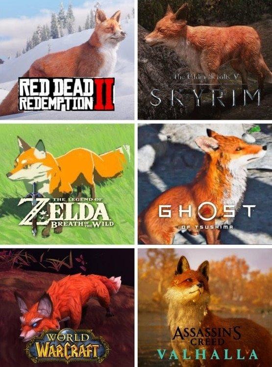 Как выглядят лисицы в разных играх