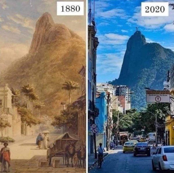 Рио-де-Жанейро тогда и сейчас
