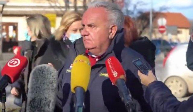 Землетрясение магнитудой 6,4 попало в прямой эфир хорватского телеканала