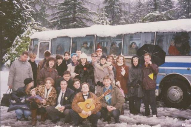 «Уральские пельмени» на зимнем фестивале команд КВН в Сочи, 1995 год.