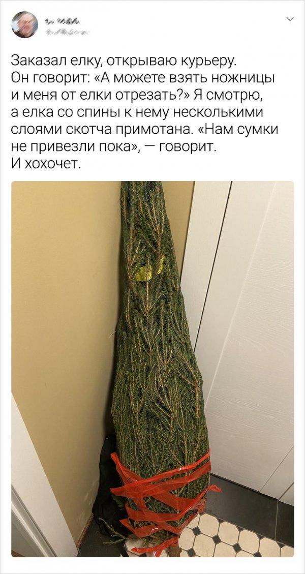 твит про елку