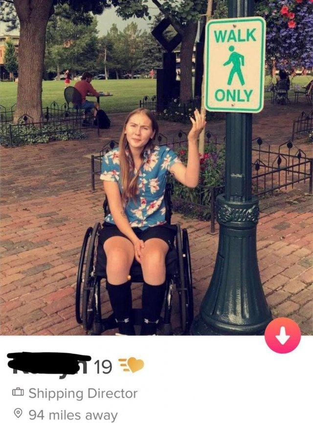 Девушка из Tinder шутит