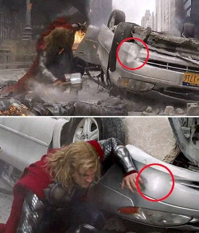 """""""Мстители"""": автомобиль после разрушений находится в лучшем состоянии, чем до боев Тора."""